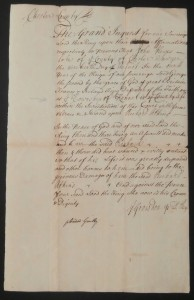 18th Century Court Petition from Chester County, Pennsylvania Goal