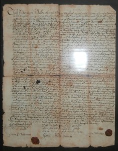 1674 Deed for Newtown, Delaware County, Pennsylvania