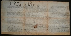 1707 William Penn Deed for Delaware