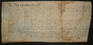 1746 Deed for Little Elk River, Maryland