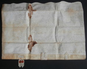 Early Dutch Document Signed by Geradus Beeckman, Reip Van Dam, Aert Aertson, Rutgert Van Brunt