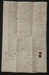 Deed Signed by Peter Eisenhower, Great Great Grandfather of Dwight D. Eisenhower